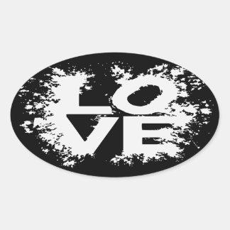 Messy Love Oval Sticker