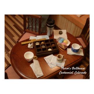 Messy Meeting in Miniature Postcard
