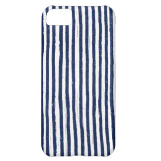 Messy Navy Pin Stripe Case iPhone 5c Cover For iPhone 5C