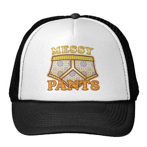 Messy Pants. Mesh Hats