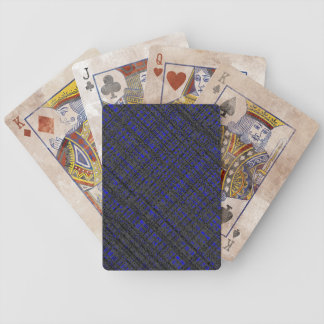 Messy Plaid Bicycle Playing Cards