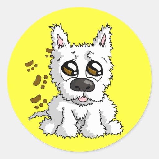 Messy Pup Sticker