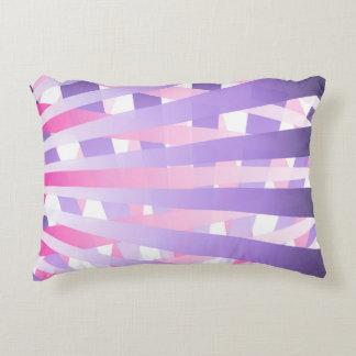 Messy Purple and Pink Gradient Sunburst Stripes Decorative Pillow