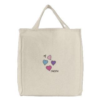 Messy Stitch Cute Hearts Mom Love Design Bag
