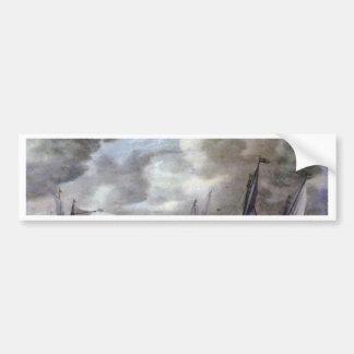 """Met """" By Jan Josefsz. Van Goyen  (Best Quality) Car Bumper Sticker"""