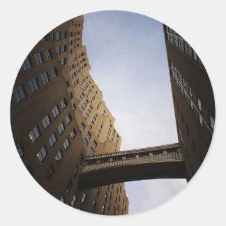 Met Life Tower Bridge, New York City Classic Round Sticker