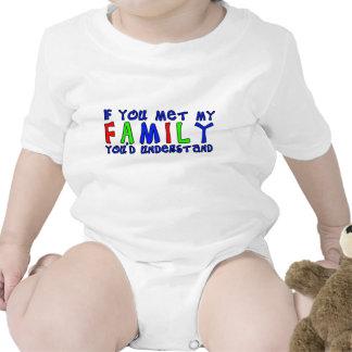 Met My Family Funny Baby T-Shirt Humor