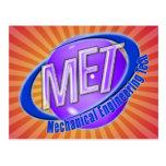 MET ORB SWOOSH LOGO MECHANCIAL ENGINEER TECH POST CARDS