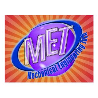 MET ORB SWOOSH LOGO MECHANCIAL ENGINEER TECH POSTCARD