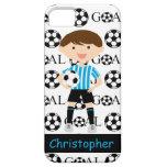 Meta adaptable 1 del muchacho del fútbol iPhone 5 Case-Mate carcasas