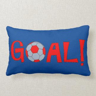 Meta - almohada de tiro del fútbol para su cueva