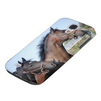 Meta de la carrera de caballos funda para galaxy s4