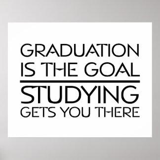 Meta de la graduación de la CAMISETA Impresiones