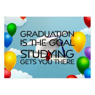 Meta de la graduación de la CAMISETA Tarjeta De Negocio