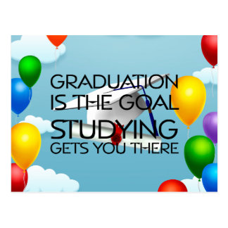Meta de la graduación de la CAMISETA Postal