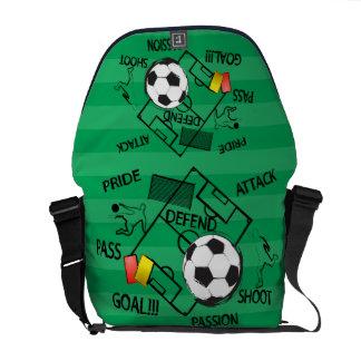 Meta del ataque del fútbol del fútbol bolsas de mensajeria