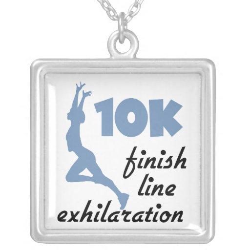 meta del azul 10K Colgante Cuadrado