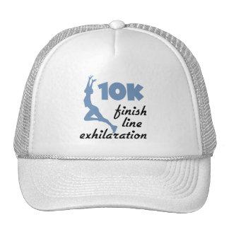 meta del azul 10K Gorras