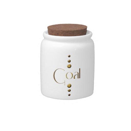Meta del bloque del oro de 3 puntos jarras para caramelos