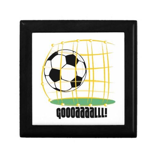 Meta del fútbol cajas de recuerdo