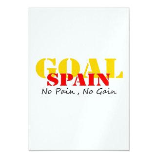 Meta del fútbol de España ningún dolor ningún Invitacion Personalizada