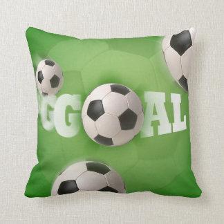 Meta del fútbol del balón de fútbol - almohada