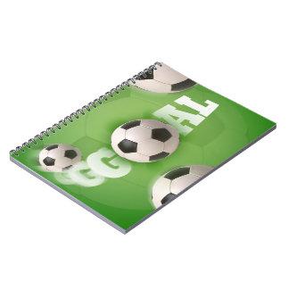 Meta del fútbol del balón de fútbol - cuaderno