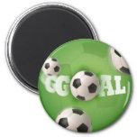 Meta del fútbol del balón de fútbol - imán