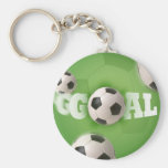 Meta del fútbol del balón de fútbol - llavero