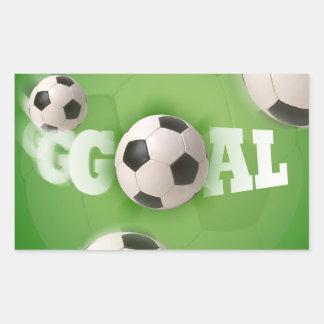 Meta del fútbol del balón de fútbol - pegatina
