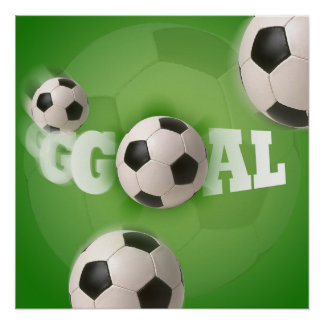 Meta del fútbol del balón de fútbol - poster