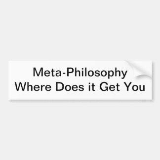 Meta-Filosofía Pegatina De Parachoque