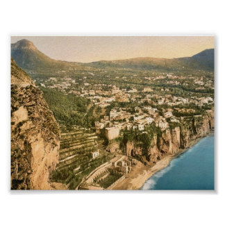 Meta, general view, Italy vintage Photochrom Poster