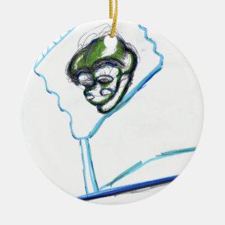 Meta Meta Imagery Double-Sided Ceramic Round Christmas Ornament