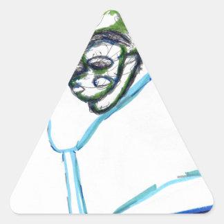 Meta Meta Imagery Triangle Sticker