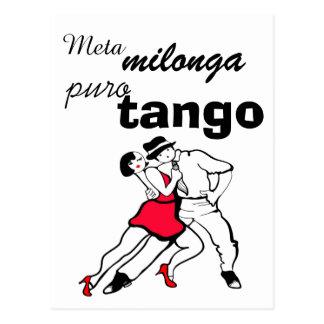 Meta Milonga Puro Tango Postcard