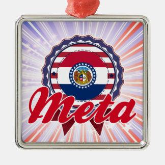 Meta, MO Square Metal Christmas Ornament