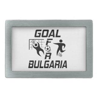 Meta para Bulgaria Hebilla Cinturón Rectangular