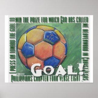 ¡Meta! Poster del fútbol
