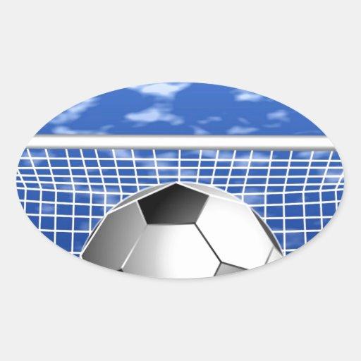 Meta y éxito del fútbol pegatina ovalada