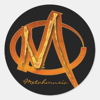 MetahMusic Round Sticker
