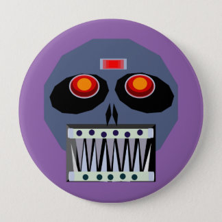 Metal 髑 髏 pinback button