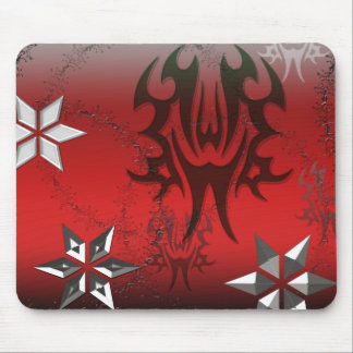 Metal Abstract Red and Black Mouse Pad