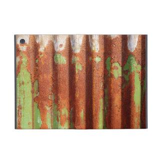 Metal acanalado oxidado iPad mini funda