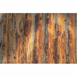 Metal acanalado viejo fotoescultura vertical