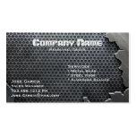 Metal agrietado plantillas de tarjetas de visita