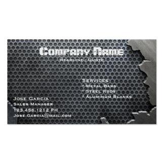 Metal agrietado tarjetas de visita