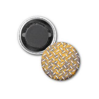 Metal aherrumbrado de la placa del diamante imán redondo 3 cm