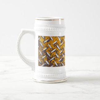 Metal aherrumbrado de la placa del diamante jarra de cerveza