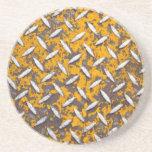 Metal aherrumbrado de la placa del diamante posavasos manualidades